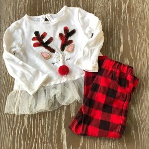 Mud Pie Girls Christmas outfit